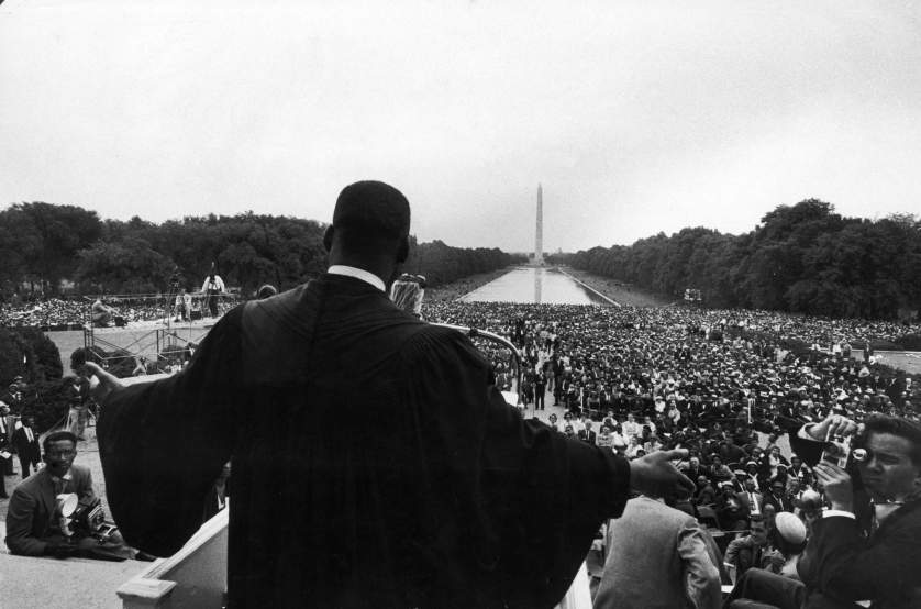 1957 | Reverend Martin Luther King Jr. speaks at the landmark Prayer Pilgrimage for Freedom in Washington, DC, one of the earliest mass rallies of the burgeoning Civil Rights Movement. Paul Schutzer took this photograph in 1957, but it did not appear in LIFE until the April 12, 1968, issue — one week after Dr. King was assassinated.