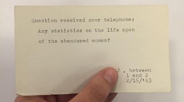 سوال تلفنی : آماری از طول عمر زن های ترک شده وجود داره ؟