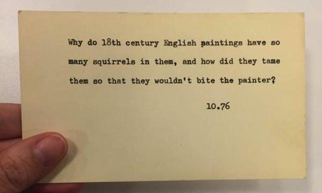چرا این همه سنجاب تو نقاشی های قرن 18 انگلیس هست ؟ چطور رامشون می کردن که نقاش رو گاز نگیرن ؟