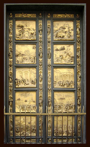 Door-of-the-Florence-Baptistery-called-Gates-of-Paradise