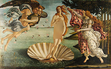 La nascita di Venere-BY Sandro Botticelli (censored)