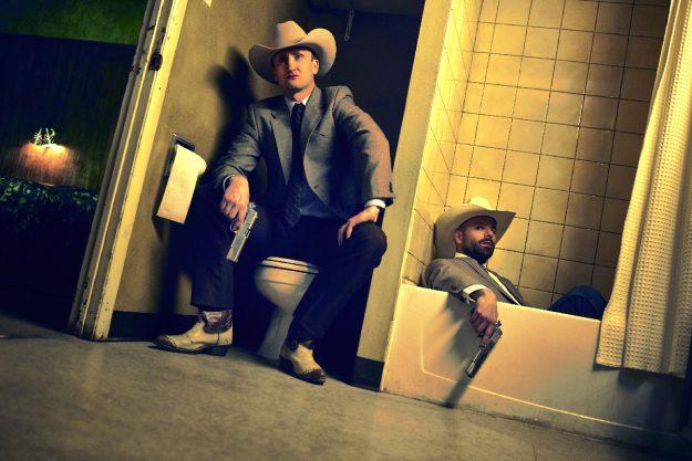 Tom Brooke as Fiore, Anatol Yusef as DeBlanc; group- Preacher _ Season 1, Gallery - Photo Credit: Matthias Clamer/AMC